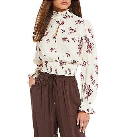 Coco + Jaimeson Floral-Printed Smocked Top