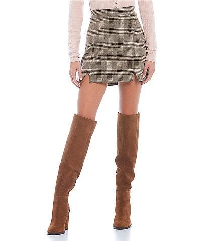 Coco + Jaimeson Jacquard Miniskirt