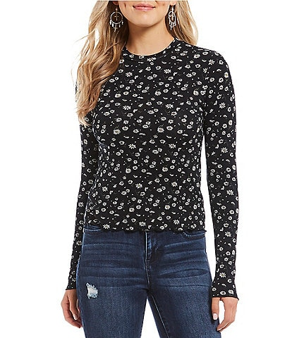 Coco + Jaimeson High Round Neck Floral Top