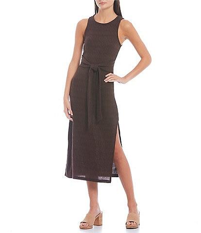 Coco + Jaimeson Sleeveless Midi A-Line Knit Dress