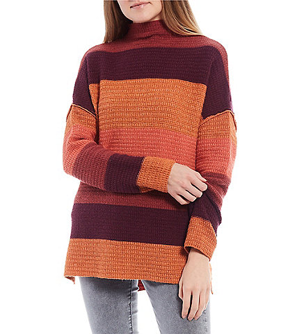 Coco + Jaimeson Striped Zip Back Sweater