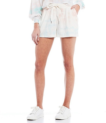 Coco + Jaimeson Terry Cloth Tie-Dyed Shorts