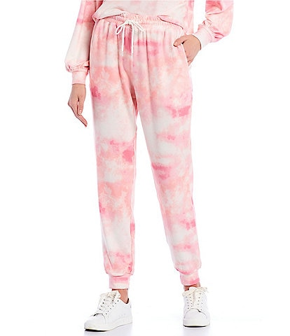 Coco + Jaimeson Tie-Dyed Hacci Jogger Pants