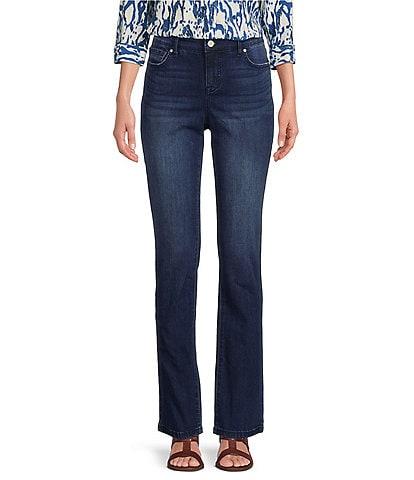 Code Bleu Chelsea Straight Leg High Rise Stretch Denim Jeans
