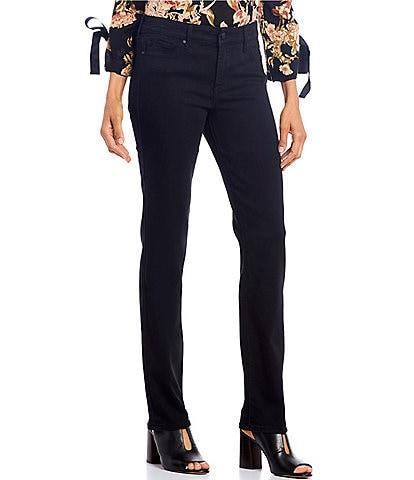 Code Bleu Chelsea Straight Leg Novelty Back Pocket Details Jeans