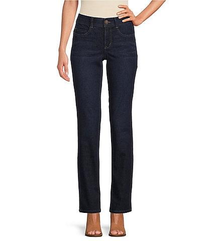 Code Bleu #double;F'AB#double; Body Sculpt Straight Leg Jeans