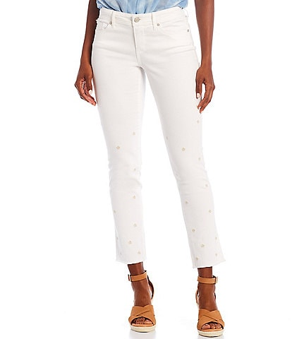 Code Bleu Floral Embroidered Ankle Weekend Jeans