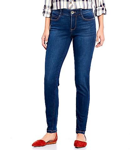Code Bleu Petite Size #double;F'AB#double; Body Sculpt Skinny Jeans