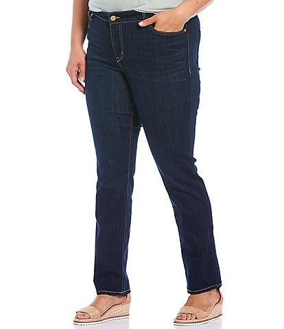 Code Bleu Plus Size Chelsea Straight Leg Jeans