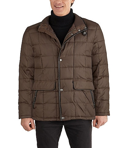 Cole Haan Box-Quilted Insulated Zip/Snap Front Jacket