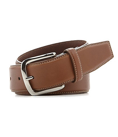 Cole Haan Burnished-Edge Leather Belt