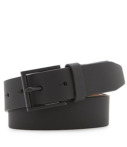 Cole Haan Matte Cut Edge Leather Belt