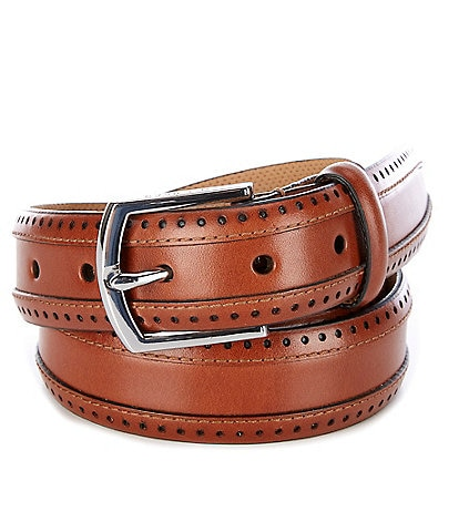 Cole Haan Dawson Perforated Leather Belt