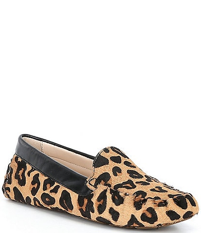 Cole Haan Evelyn Leopard Driving Moccasins