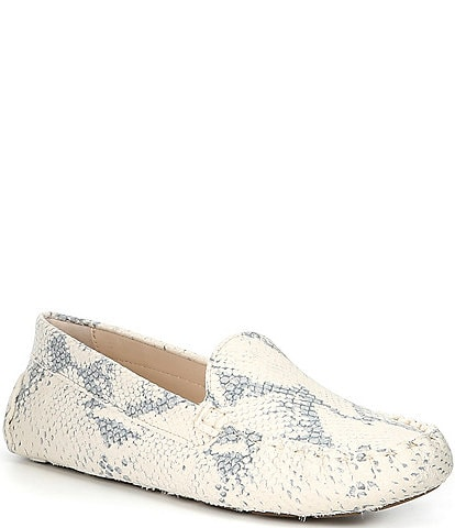 Cole Haan Evelyn Python Print Leather Drivers
