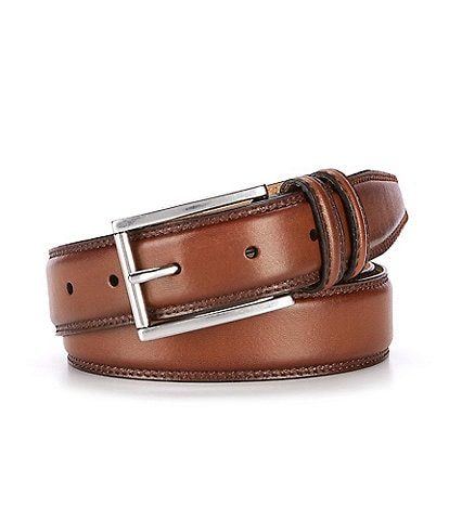 Cole Haan Feather Edge Double Stitch Leather Belt