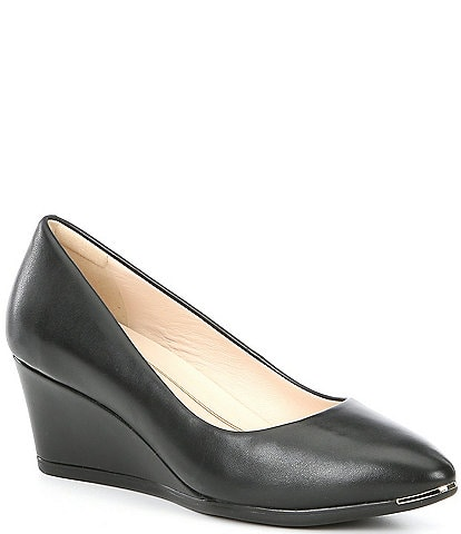 Cole Haan Grand Ambition Leather Pump Wedges