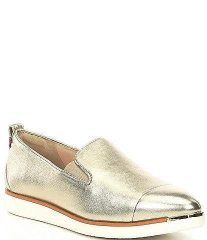 Cole Haan Grand Ambition Metallic Leather Slip-Ons