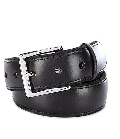 Cole Haan Grand Burnished Edge Leather Belt