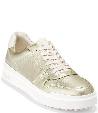 Cole Haan GrandPrø AM Waterproof Leather Lace-Up Golf Sneakers