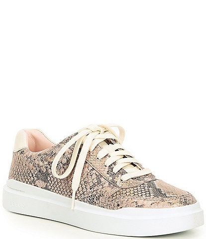Cole Haan GrandPro Rally Court Snake Print Leather Sneakers