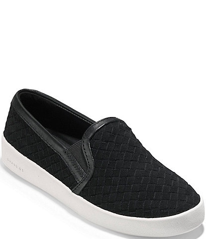 c8382247df1 Cole Haan Grandpro Spec Woven Leather Slip Ons