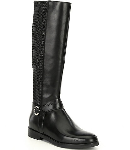 Cole Haan Leela Grand Leather Tall Block Heel Riding Boots