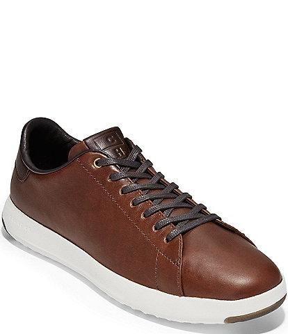 Cole Haan Men's Grandpro Leather Tennis Shoe