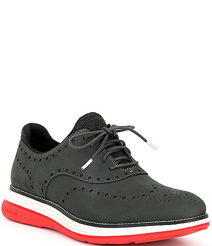 Cole Haan Men's ØRIGINALGRAND Ultra Wingtip Suede Oxfords