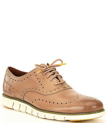 Cole Haan Men's ZERGRAND Wingtip Leather Oxfords