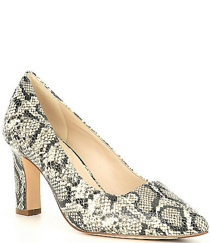 Cole Haan Modern Classic Snake Print Leather Pumps