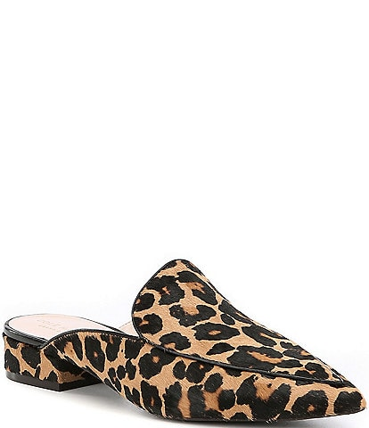 Cole Haan Piper Leopard Print Calf Hair Mules