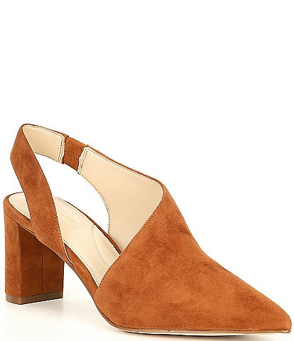 Cole Haan Vania Pointed Toe Suede Pumps