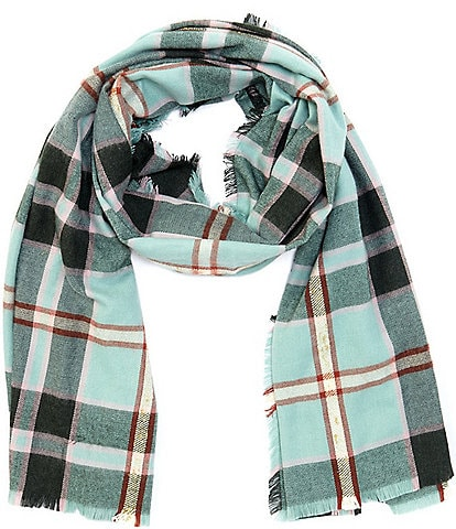 Collection 18 Super Soft Plaid Wrap Scarf