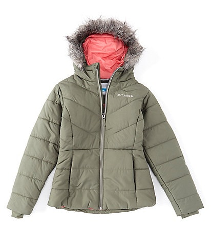 Columbia Big Girls 7-16 Katelyn Crest Faux Fur Hooded Jacket