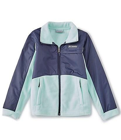 Columbia Big Girls 7-16 Benton III Fleece-Overlay Colorblock Jacket