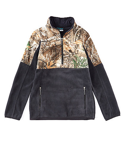 Columbia Little/Big Boys 4-18 PHG Real Tree Camo Half-Zip Fleece Pullover