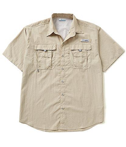 Columbia PFG Bahama II Solid Short-Sleeve Woven Shirt