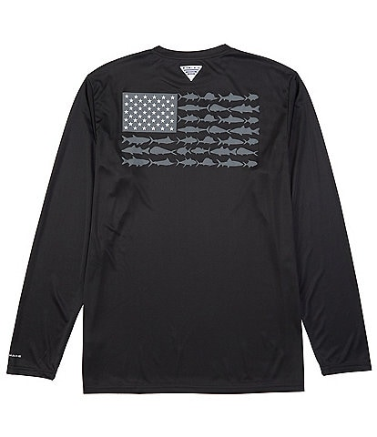 Columbia PFG Terminal Tackle Fish Flag Long-Sleeve Rashguard Tee