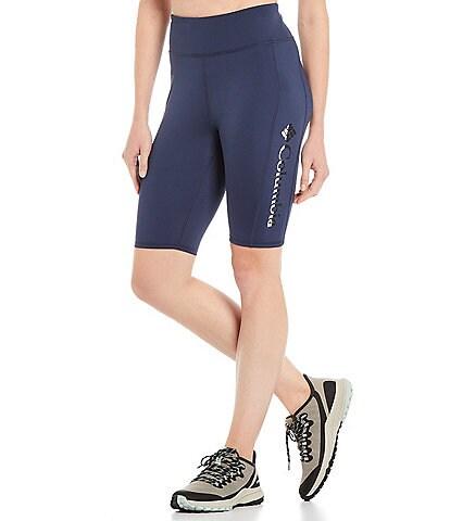 Columbia River High Rise 10#double; Half Tight Biker Shorts