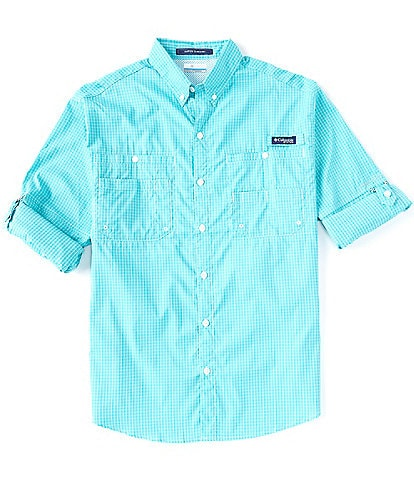 Columbia PFG Super Tamiami Gingham Roll-up Sleeve Woven Shirt