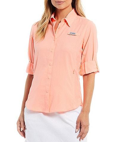 Columbia TAMIAMI™ II Long Sleeve Point Collar Shirt