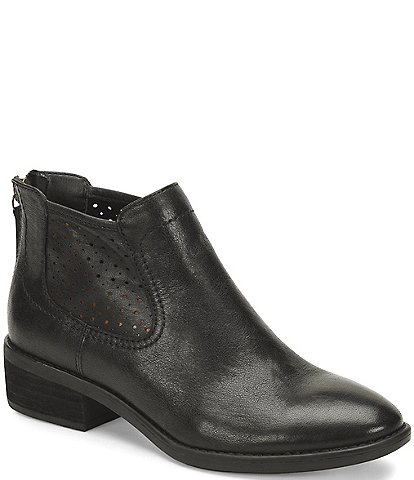 Comfortiva Cadwin Perforated Leather Booties
