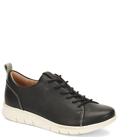 Comfortiva Cayson Black Leather Sneakers