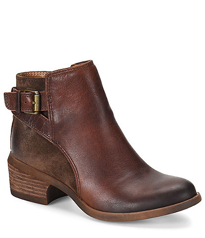 Comfortiva Creston Leather Western-Inspired Block Heel Bootie