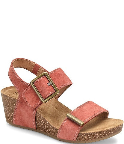 Comfortiva Emberly Suede Wedge Sandals