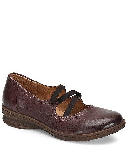 Comfortiva Farmington Leather Fleixble Strap Platform Slip On