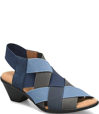 Comfortiva Farrow Elastic Woven Slingback Sandals
