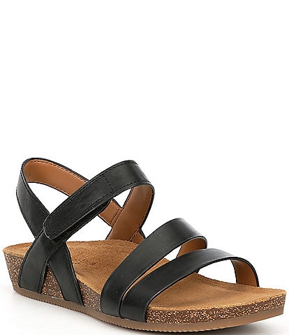Comfortiva Gardena Leather Footbed Sandals
