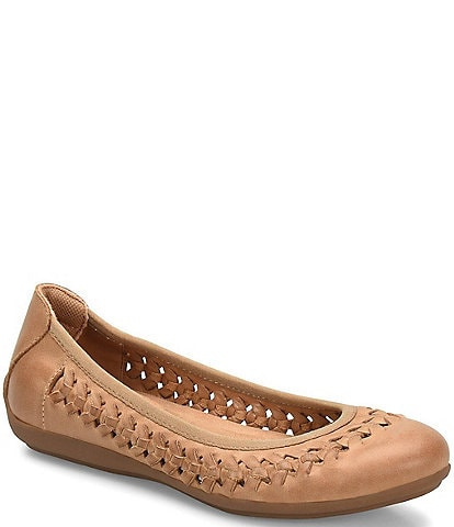 Comfortiva Marilu Woven Leather Flat Slip Ons
